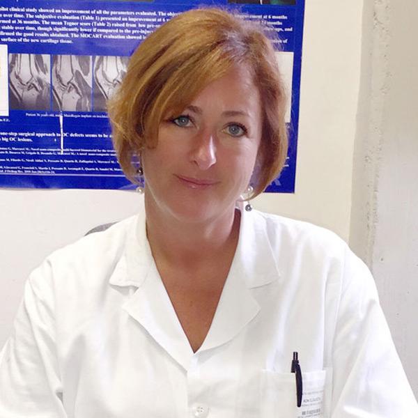 Dottoressa Elizaveta Kon Equipe Professor Maurilio Marcacci